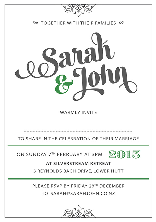 Free wedding invitation 1